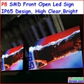 "P8 LED SIGN OUTDOOR 256cm x 128cm,100.8"" x 50.4"",FRONT OPEN RGB LED MOVING FULL COLOR SCROLLING PROGRAMMABLE DISPLAY SIGN p10p16"