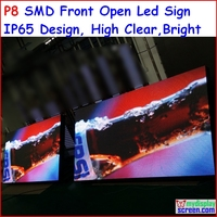 P8 LED SIGN OUTDOOR 256cm x 128cm,100.8 x 50.4,FRONT OPEN RGB LED MOVING FULL COLOR SCROLLING PROGRAMMABLE DISPLAY SIGN p10p16
