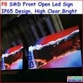 """SINAL P8 LEVOU AO AR LIVRE 256 cm x 128 cm, 100.8 """"x 50.4"""", FRENTE ABERTA RGB LED DISPLAY PROGRAMÁVEL EM MOVIMENTO de ROLAGEM de COR CHEIA SINAL p10p16"""