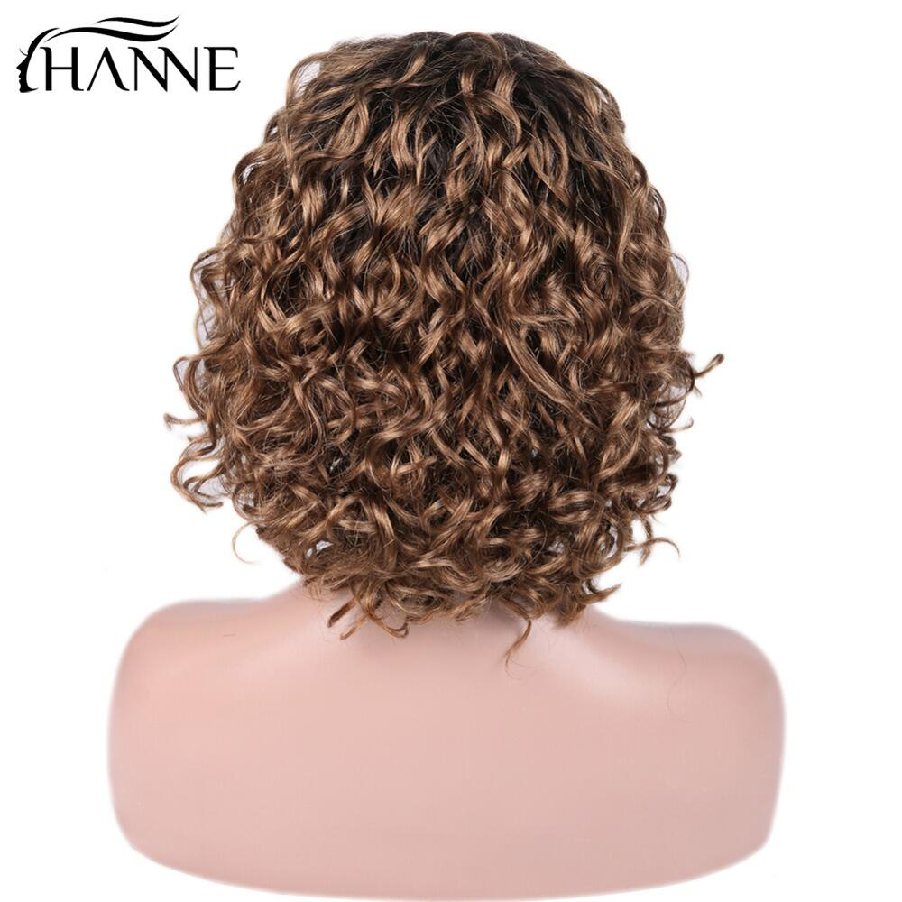 HANNE Hair Brazilian Lace Front Human Hair Wigs Free Part Curly Remy Wig For Women 150