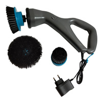 Portable Electrical Rechargeable Cordless Cleaning Brush Hurricane Muscle Scrubber Lightweight Plastic Household Powerful