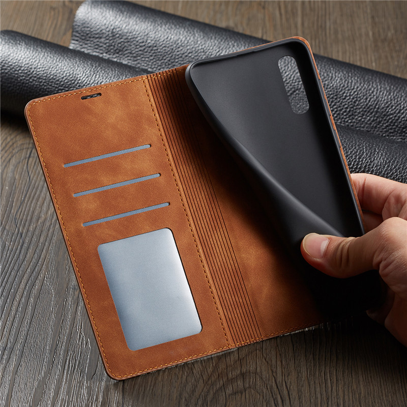 HTB1uO2fa8GE3KVjSZFhq6AkaFXaw Luxury Leather A50 A51 A71 Case For Samsung Galaxy A70 A51 A40 A30 A20 A20E A10 M10 Strong Magnetic Wallet Flip Card Slots Cover