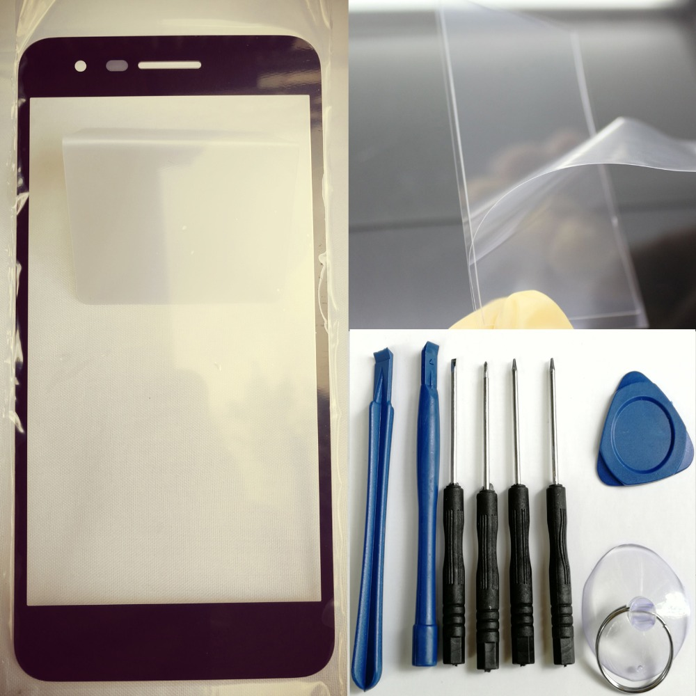 Shyueda 100% Новые + OCA инструменты для LG K8 2018/K9 2018/SP200/Aristo 2/Tribute Dyna внешний передний экран Замена стеклянных линз