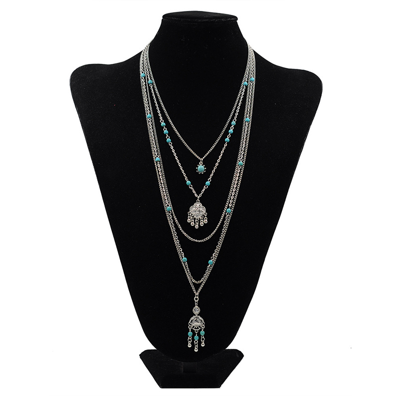 Ethnic Bohemia Five Layers Flower Necklaces