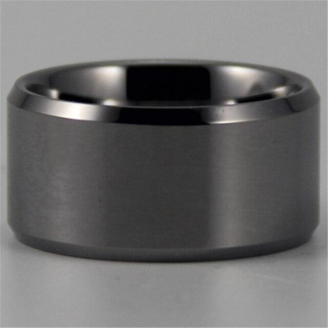 Бесплатная Доставка ЮГК ЮВЕЛИРНЫЕ Горячая Продаж 12 ММ Серебряный Конических Комфорт мужская Мода Tungsten Обручальное Кольцо