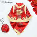 EABoutique Fashion Traditional Chinese Clothing beautiful embroidery GRAGON FU fleece baby-snowsuit tang suit 3 PIECE SET