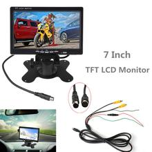 7 Inch 2CH HD 800*480 TFT- LCD Screen Car Monitor for Rear View Camera Auto Parking Backup Reverse Headrest Monitor 7 inch car monitor tft lcd 7 hd digital 16 9 800 480 screen 4 way video input remote control reverse rear view camera for truck