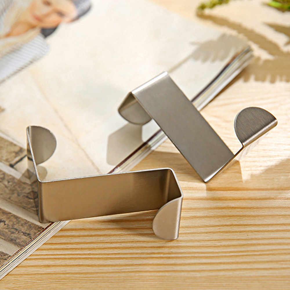 2 قطعة الفولاذ المقاوم للصدأ الباب هوك 2 قطعة باب هوك الفولاذ المطبخ مجلس الوزراء الملابس شماعات المنظم الإبداعية Tool19