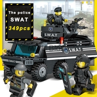 349Pcs Legoinglys Building Blocks Sets Swat Team Anti Explosion Compatible Legoing Swat City Police Military Gift Toys For Kids