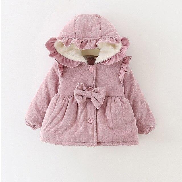 4871ae5d1b1 2018 Nova Moda Bebê Meninas Infantil Criança Princesa Primavera Do Bebê de  Veludo Inverno Casaco Outwear