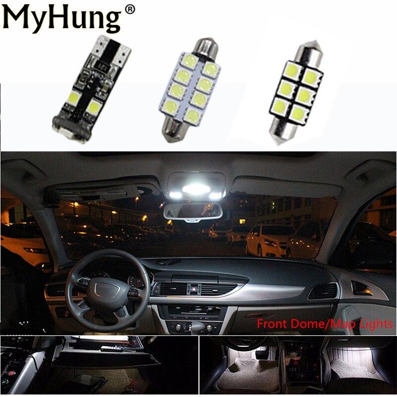 13 Pcs Canbus 12v Led Bulbs Light Interior Car Lights For