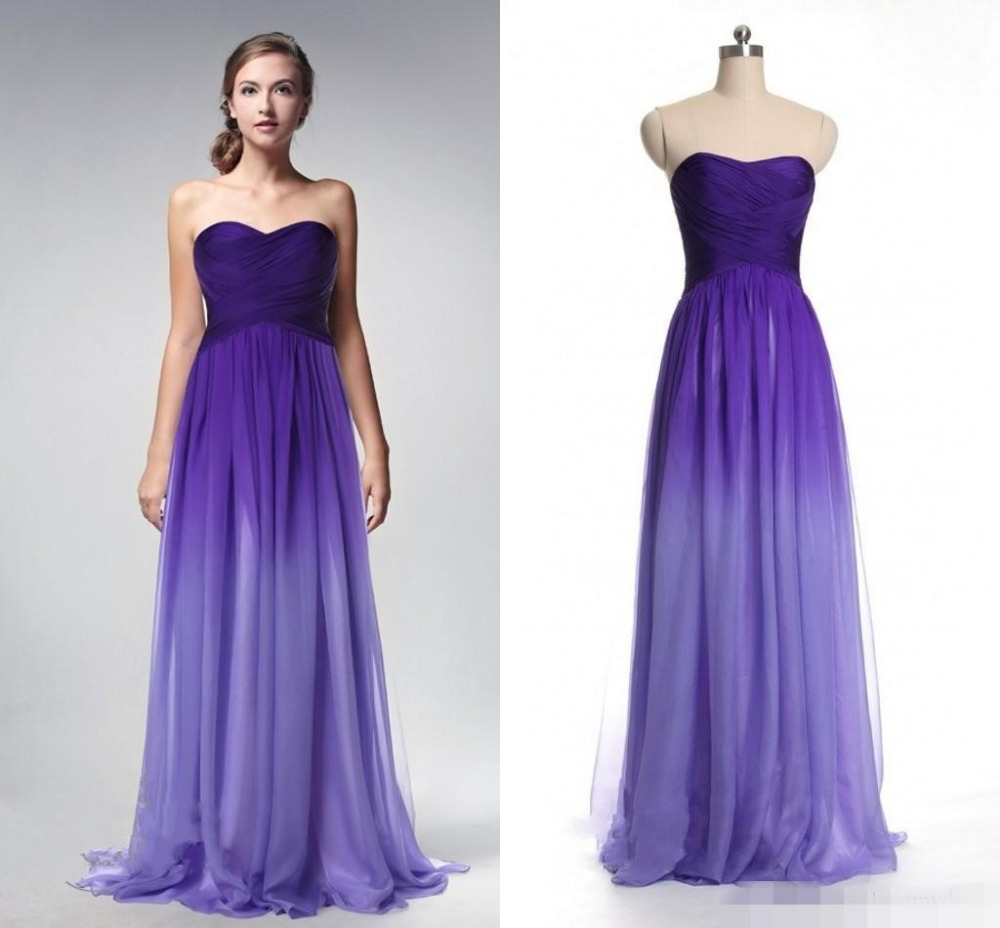 Popular purple ombre dress buy cheap purple ombre dress for Purple ombre wedding dress