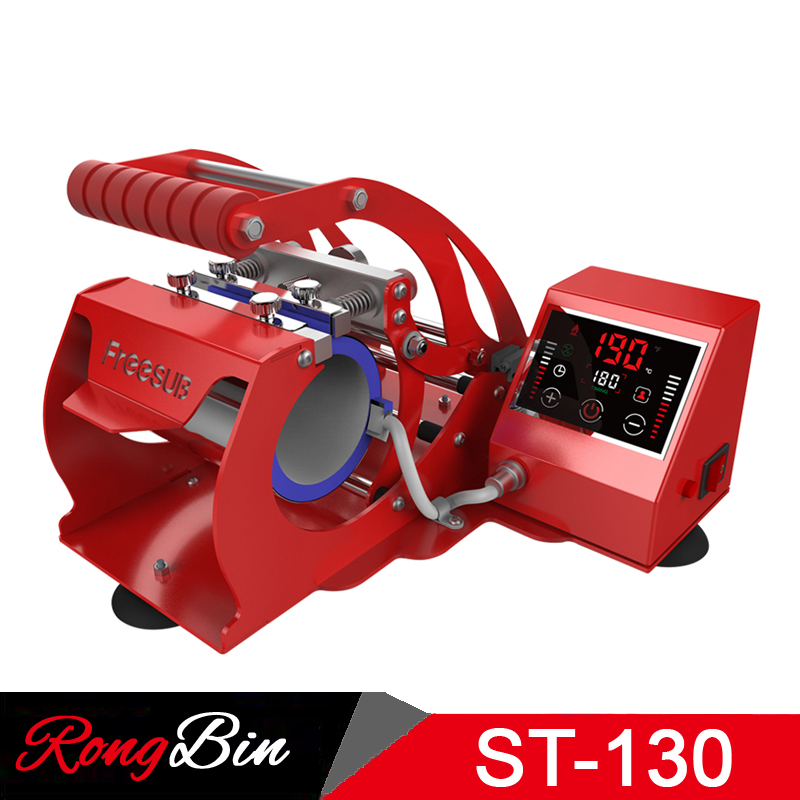 New ST-130 LED Touch Screen Sublimation Machine Mug Press Machine Heat Press Transfer For 11oz Mug Cup Sublimation Printer