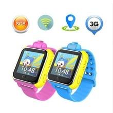 Купить с кэшбэком Kids 3G Smart Watch with Camera GSM GPRS WIFI GPS Locator Tracker and SIM Card Slot Wristwatch for Android IOS