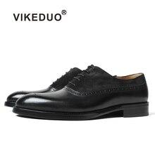 Vikeduo/; брендовая дизайнерская обувь ручной работы; винтажные модные черные замшевые мужские классические полуботинки