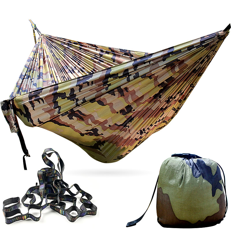 Goodwin Outdoor Ultralight Starter Hammock With 2 PCS Tree Straps Camouflage Color 270*140 Cm