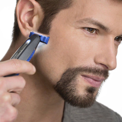 Micro Touch SOLO Electric Men Rechargeable Shaver Peronal Hair Cleaning LED Light Smart Shaver Trimmer father birthday gifts