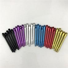 6pcs darts rod 2BA thread solid color smooth metal aluminum alloy accessories not easy to break