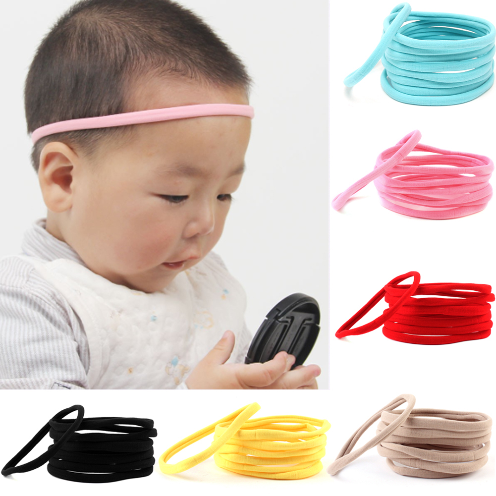 10pcsset Cute Elastic Nylon Headband Hair Accessories