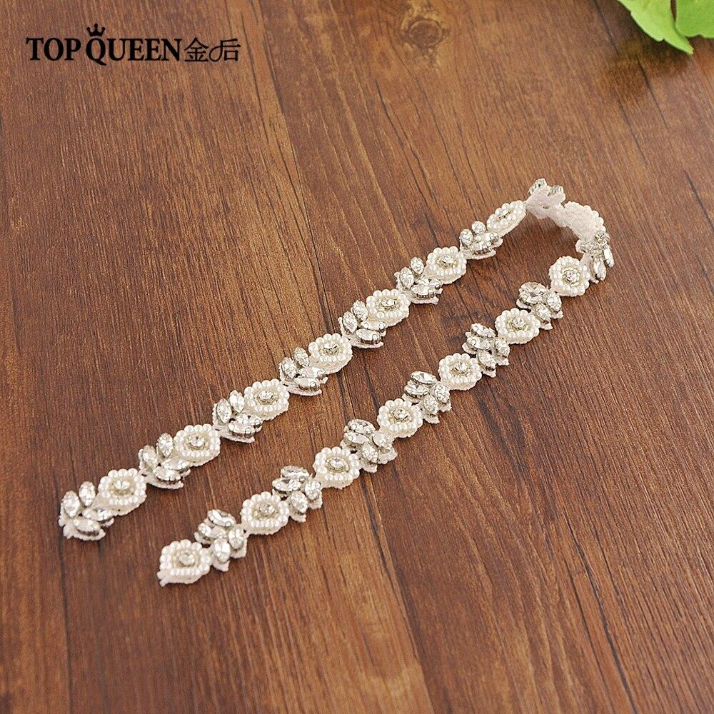 TOPQUEEN Crystal Belts Jewel Belt Flower Wedding Belts Wedding Dresses Estra Width Wedding Dresses Belt Flowers Girl  S101A