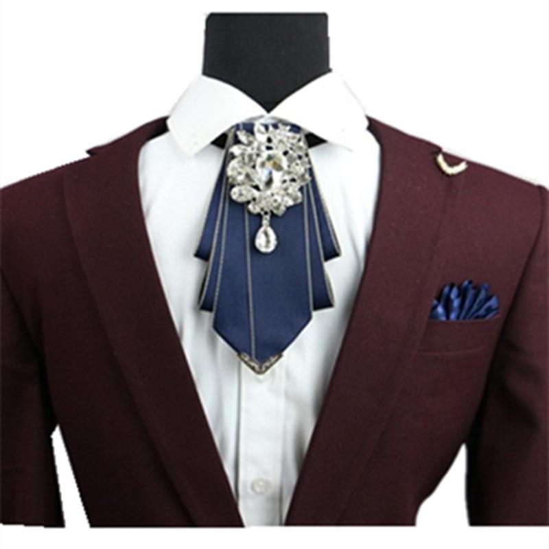Men s formal wear groomsmen diamond bow tie wedding groom tie england