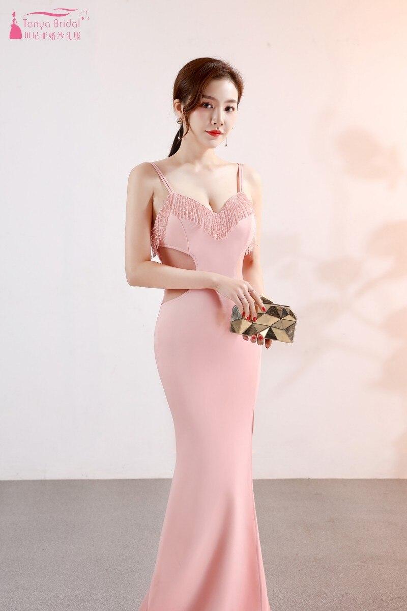 b0d2c305f23 rose Femmes Formelle rouge blanc Cristal Robe Latérale Demoiselle D ...