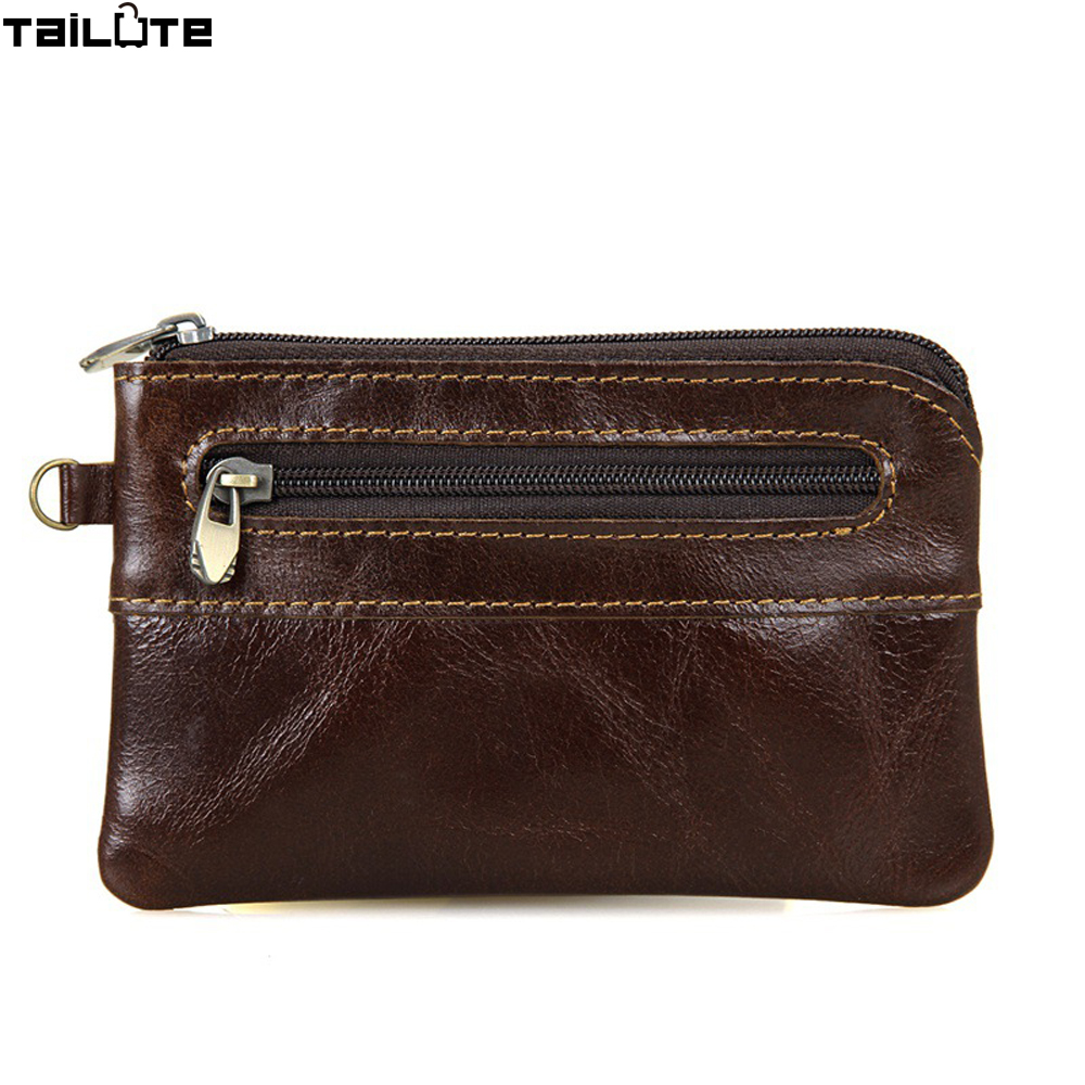 TAILUTE Genuine Leather Coin Purse Women Small Wallet Change Purses Money Bags Pocket Wallets Key Holder Mini Zipper Pouch
