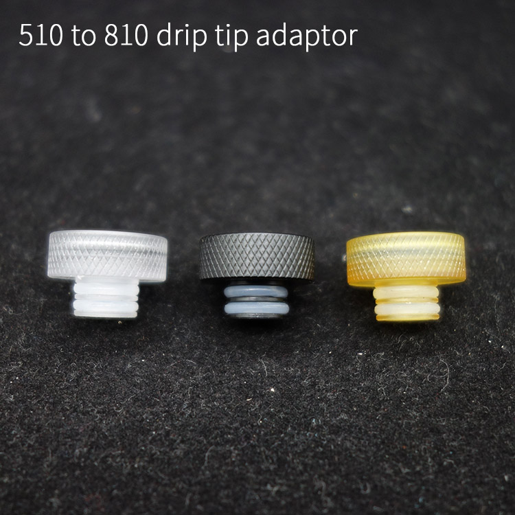 1pc 510 to 810 adaptor Drip Tip Connector Mouthpiece Convertor for TFV8 Baby 510 rda rta atomizer