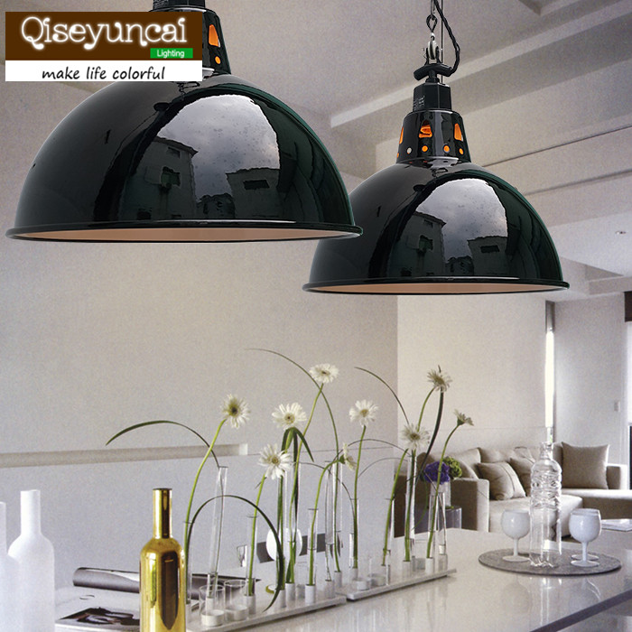 Qiseyuncai Европейский ретро черный цепочка с эмалевой подвеской кран E27 люстра креативных железных светодиодный освещения Бесплатная доставка