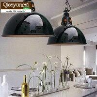 Qiseyuncai European retro black enamel chain crane E27 chandelier creative iron LED lighting free shipping