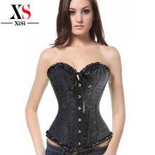 2015 women plus size 4xl 5xl steampunk women halter lace cupless corset underbust bodice waist clincher corset steel bone