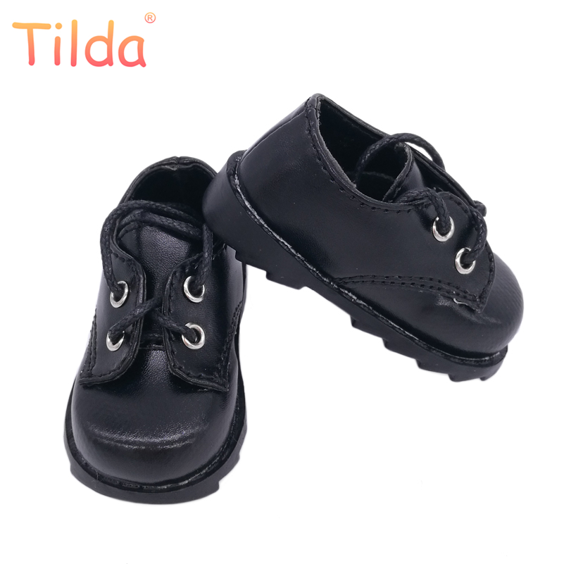 Tilda 1/4 1/3 BJD Doll Shoes Mini Shoes for Dolls,Black Student Lovely Shoes Accessory for BJD Toy Studtent Boots For Dolls handsome black army boots for bjd doll 1 4 1 3 sd17 uncle ssdf shoes sm8