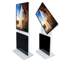 "42"" Rotatable Floor Standing Advertising Player,17""-65"" inch smart rotation screen stand alone dual screen kiosk/digital signage(China)"