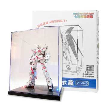 HBB Clear Acrylic Display Box With Colorful Light Dustproof Action Figure Showcase - Category 🛒 Toys & Hobbies