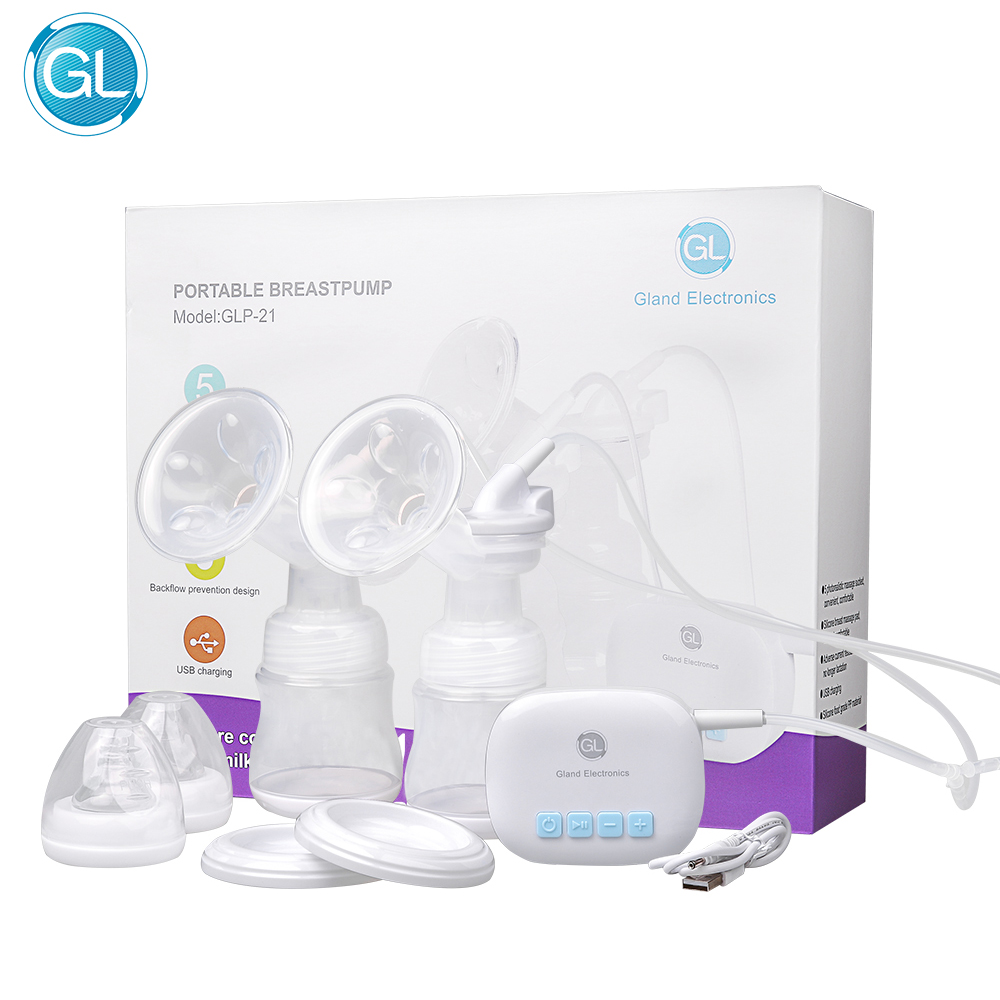 GL Electric Double Breast Pump Portable Automatically Breast Milk Suction Device