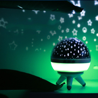 Hot sales LED Rotating Star Projector Lamp With USB Charging , And LED Room Decoration Creative Night Light