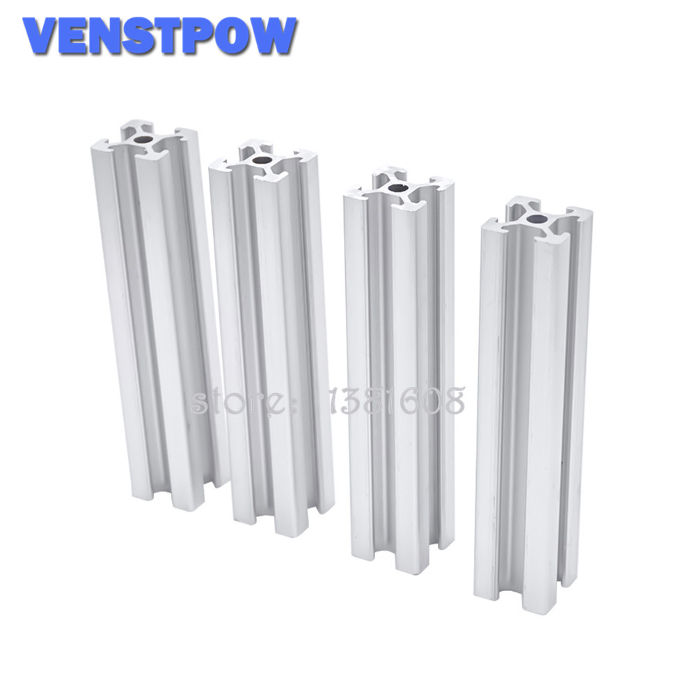4pcs/lot 2020 Aluminum Profile Extrusion 600mm To 800mm Length Linear Rail 650mm 700mm 750mm For DIY 3D Printer Workbench CNC