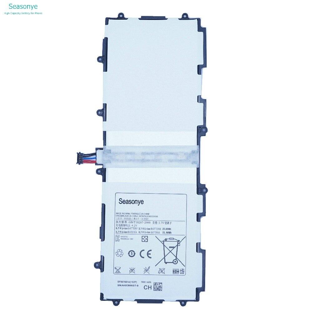 Seasonye 7000 mAh/25.9Wh SP3676B1A (1S2P) Batteria di Ricambio Per Samsung Galaxy Tablet Tab 2 Note 10.1 P5100 P5110 P7500 P7510