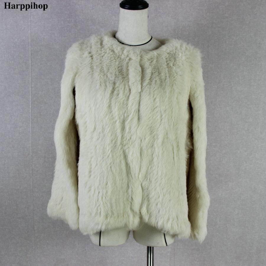 Kaninchenfell Frauen Farben Dicke Winter Mantel Echt Jacke BeigeSilberSchwarz Australien Harppihop Gestrickte Modedame Warme Neue Echte 8wkPOn0