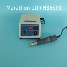 Dental Lab Marathon-III Micromotor 35,000RPM Handpiece Equipment Original Seayang Marathon H37L1/H35SP1/M33ES 35K rpm Handpiece 70 000 rpm non carbon brushless laboratory dental micromotor polishing lab handpiece stone metal jewelry carving engraving