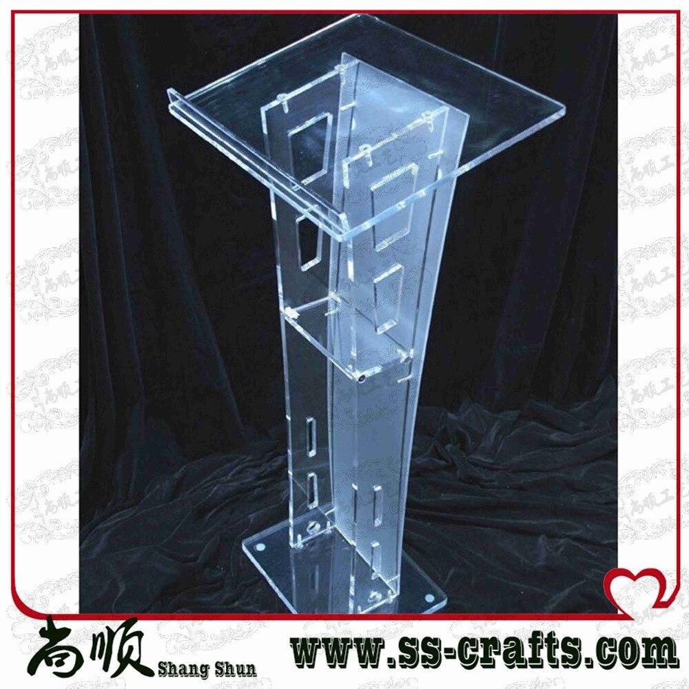 Popular Transparent Knockdown Acrylic Lectern For School Plexiglass