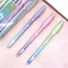 0.38mm Erasable Pens for School Magic Blue/Black Ink Gel Pen Office School Supplies Student Writing Pen Cute Stationery 0 38mm kawaii erasable pens for school office supplies magic ink creative gel pen new best selling cute student stationery store
