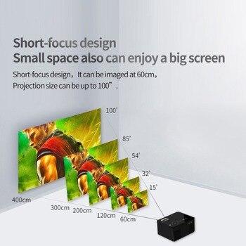 мини жк проектор   WL-T200 маленький размер HD 1080 P TFT Lcd Портативный Домашний мини-проектор HD Tv домашний мультимедийный плеер театральный проектор для домашнего ки...