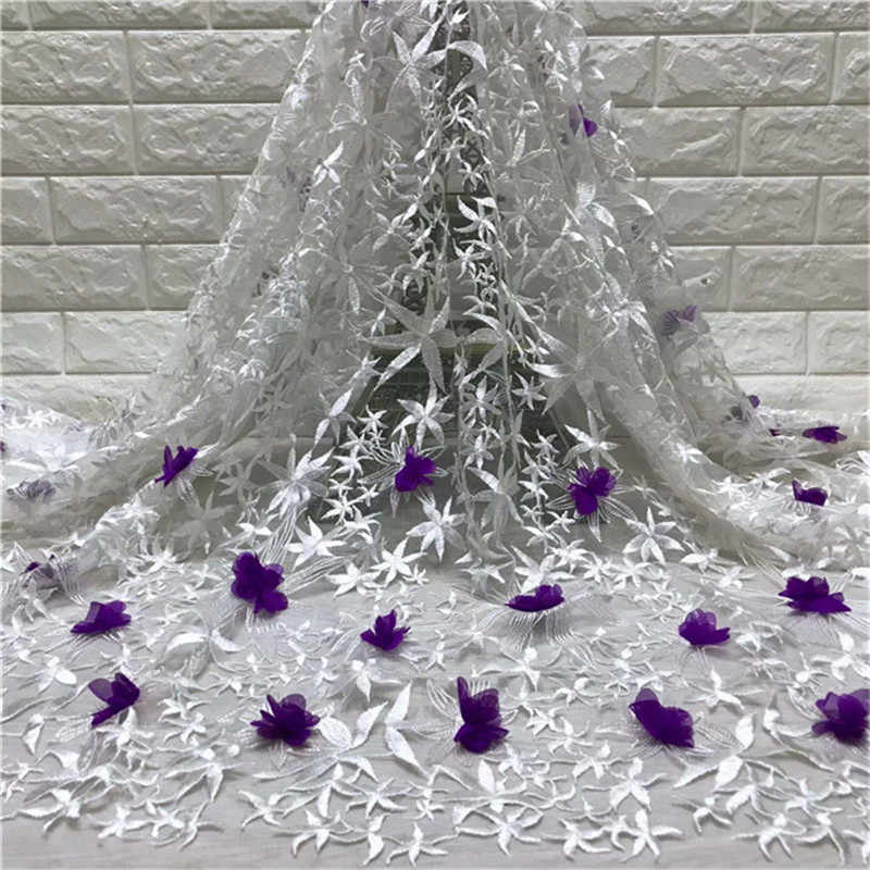 Best продаваемым африканская шнур Кружева из бисера Высокое качество французского кружева белый Африканский сетка кружевной ткани для бордовые кружевные свадебные