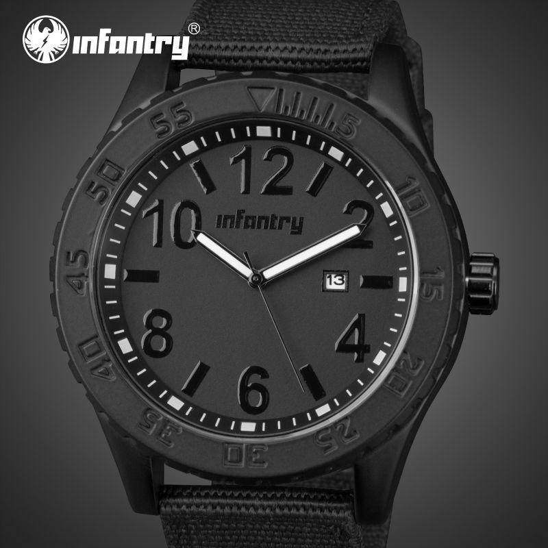 Prix pour Fantassins Quartz Montres Ultra Mince En Nylon Étanche Montres Militaires Auto Date Lumineux Homme Horloge Relogio Masculino
