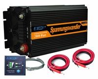 EDECOA frequency inverter for motor 2000watts DC 24V to AC 220V 230V modified sine wave off grid with remote controller
