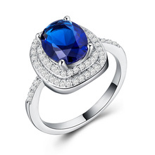 Huitan fashion oval retro women cocktail party ring wholesale cubic zirconia around with big CZ engagement for