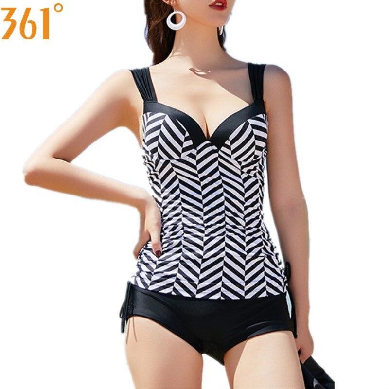 361 Women Push Up Tankini Two Piece Swimsuit For Women Bathing Suits Girl Swim Suit Shorts Female Swimwear Sports Swimming Suit