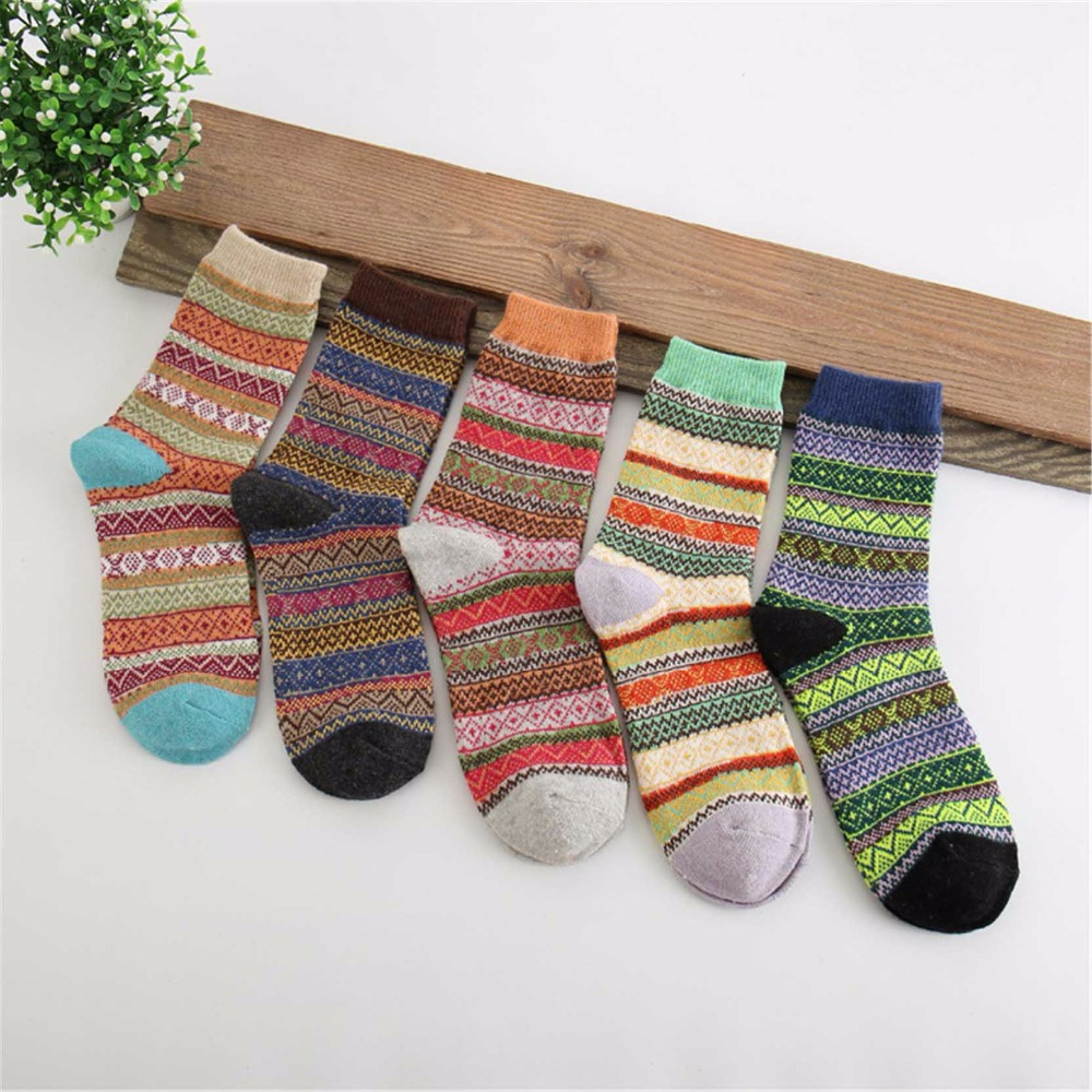 JUMEAUX 5 Pairs/Lot Funny Christmas Sockss