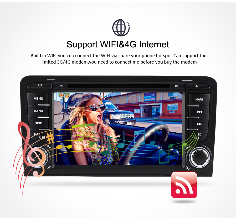 Image 4 - 4G RAM+32G ROM Android 9.0 car DVD Radio Multimedia Player For Audi A3 S3 2002 2013 Audio GPS Video Stereo Navigation Headunit-in Car Multimedia Player from Automobiles & Motorcycles